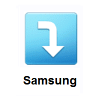 Right Arrow Curving Down on Samsung