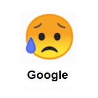 Sad But Relieved Face on Google Android