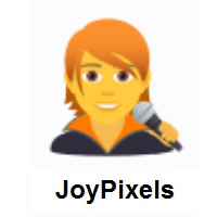 Singer on JoyPixels