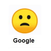 Slightly Frowning Face on Google Android