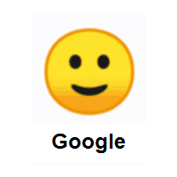 Slightly Smiling Face on Google Android