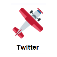 Small Airplane on Twitter Twemoji