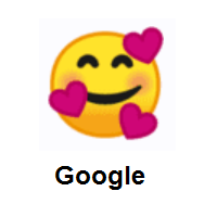 Smiling Face With 3 Hearts on Google Android