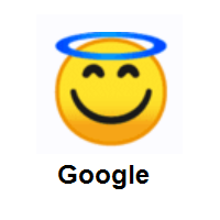 Smiling Face with Halo on Google Android