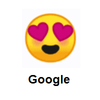 Smiling Face with Heart-Eyes on Google Android