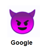 Devil: Smiling Face With Horns on Google Android