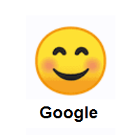 Smile: Smiling Face With Smiling Eyes on Google Android