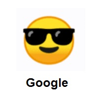 Cool Face: Smiling Face with Sunglasses on Google Android