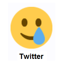 Smiling Face With Tear on Twitter Twemoji