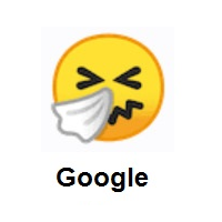 Sneezing Face on Google Android