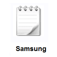 Spiral Notepad on Samsung