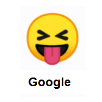 Nasty: Squinting Face with Tongue on Google Android