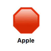 Stop Sign on Apple iOS