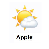 Sun Behind Small Cloud on Apple iOS
