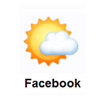 Sun Behind Small Cloud on Facebook