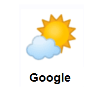 Sun Behind Small Cloud on Google Android
