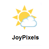 Sun Behind Small Cloud on JoyPixels