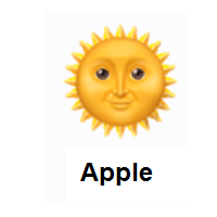 Sun With Face on Apple iOS