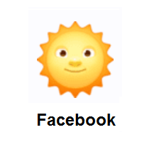 Sun With Face on Facebook