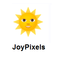 Sun With Face on JoyPixels