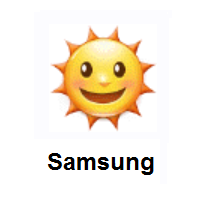 Sun With Face on Samsung