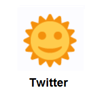Sun With Face on Twitter Twemoji