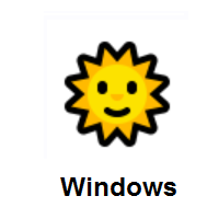 Sun With Face on Microsoft Windows