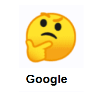 Thinking Face on Google Android