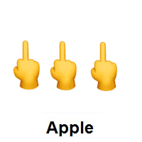 Three Times Middle Finger on Apple iOS