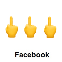 Three Times Middle Finger on Facebook