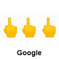 Three Times Middle Finger on Google Android