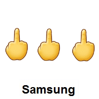 Three Times Middle Finger on Samsung