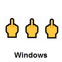 Three Times Middle Finger on Microsoft Windows