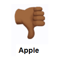 Thumbs Down: Medium-Dark Skin Tone on Apple iOS