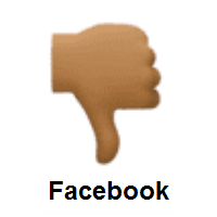 Thumbs Down: Medium-Dark Skin Tone on Facebook