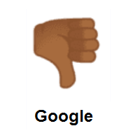 Thumbs Down: Medium-Dark Skin Tone on Google Android