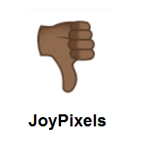 Thumbs Down: Medium-Dark Skin Tone on JoyPixels