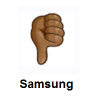 Thumbs Down: Medium-Dark Skin Tone on Samsung