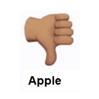 Thumbs Down: Medium Skin Tone on Apple iOS