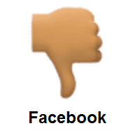 Thumbs Down: Medium Skin Tone on Facebook