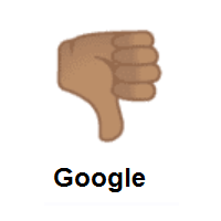 Thumbs Down: Medium Skin Tone on Google Android
