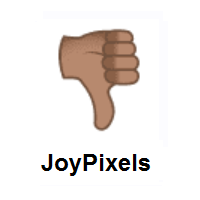Thumbs Down: Medium Skin Tone on JoyPixels