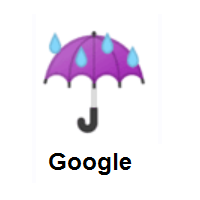 Rainy: Umbrella with Rain Drops on Google Android