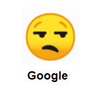 Unhappy: Unamused Face on Google Android