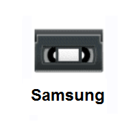 Videocassette on Samsung
