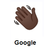 Waving Hand: Dark Skin Tone on Google Android