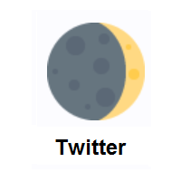 Waxing Crescent Moon on Twitter Twemoji