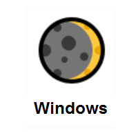 Waxing Crescent Moon on Microsoft Windows