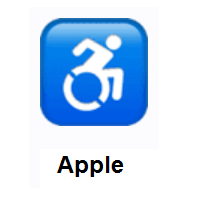 Wheelchair Symbol on Apple iOS