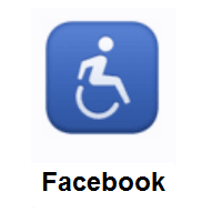 Wheelchair Symbol on Facebook